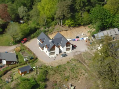 Aerial view of Torcastle House